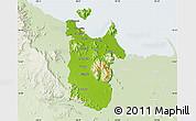 Physical Map of Townsville, lighten