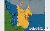 Political Map of Townsville, darken