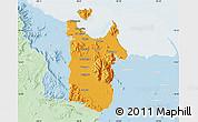 Political Map of Townsville, lighten