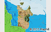 Satellite Map of Townsville, political outside