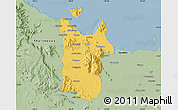 Savanna Style Map of Townsville
