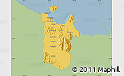 Savanna Style Map of Townsville, single color outside