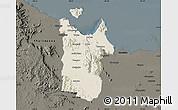 Shaded Relief Map of Townsville, darken