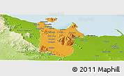 Political Panoramic Map of Townsville, physical outside