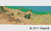 Satellite Panoramic Map of Townsville