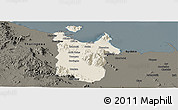 Shaded Relief Panoramic Map of Townsville, darken