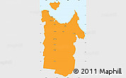 Political Simple Map of Townsville, single color outside