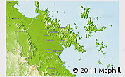 Physical 3D Map of Whitsunday