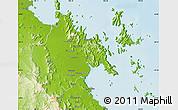 Physical Map of Whitsunday
