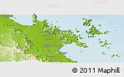 Physical Panoramic Map of Whitsunday