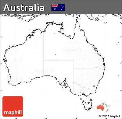Free Blank Simple Map of Australia, no labels