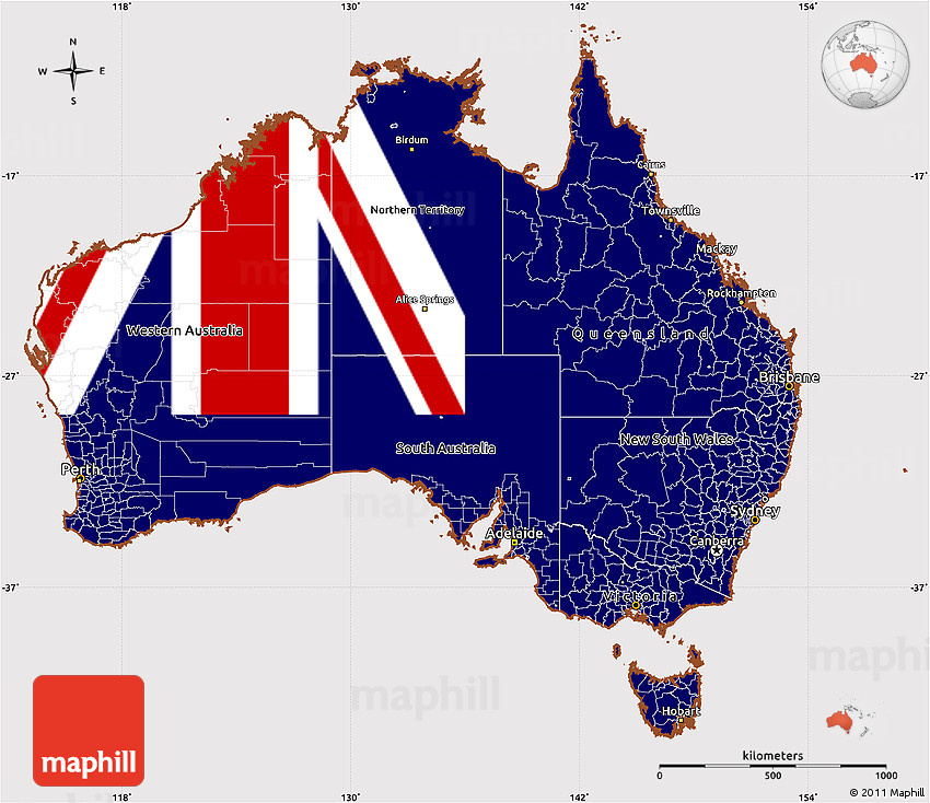 Flag simple map of australia flag aligned to the middle 2d gumiabroncs Gallery