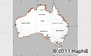 Gray Simple Map of Australia, cropped outside