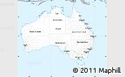 Gray Simple Map of Australia, single color outside