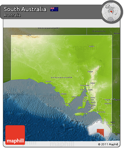 Free 3d Map Of Australia.Free Physical 3d Map Of South Australia Darken