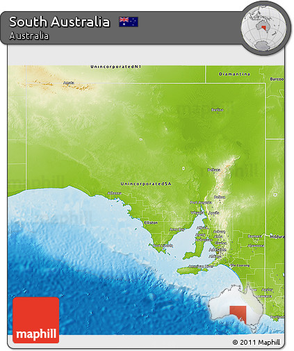 Free 3d Map Of Australia.Free Physical 3d Map Of South Australia