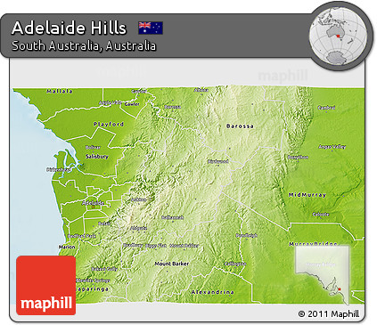 3d Map Of South Australia.Free Physical 3d Map Of Adelaide Hills