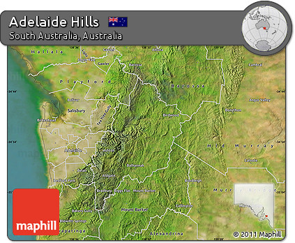 Free Satellite Map of Adelaide Hills