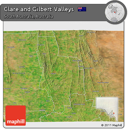 3d Map Of South Australia.Free Satellite 3d Map Of Clare And Gilbert Valleys