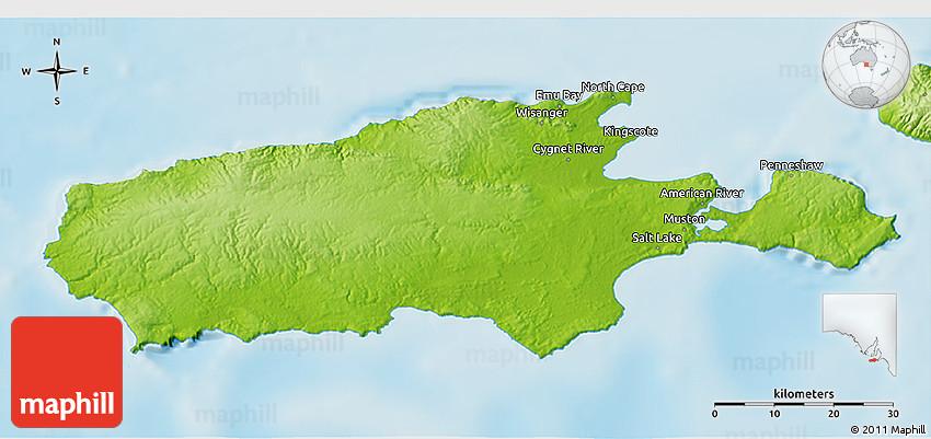 3d Map Of South Australia.Physical 3d Map Of Kangaroo Island