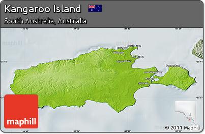 Kangaroo Island Map Map of Kangaroo Island