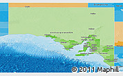 Political Shades Panoramic Map of South Australia