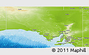 Physical Panoramic Map of Unincorporated SA