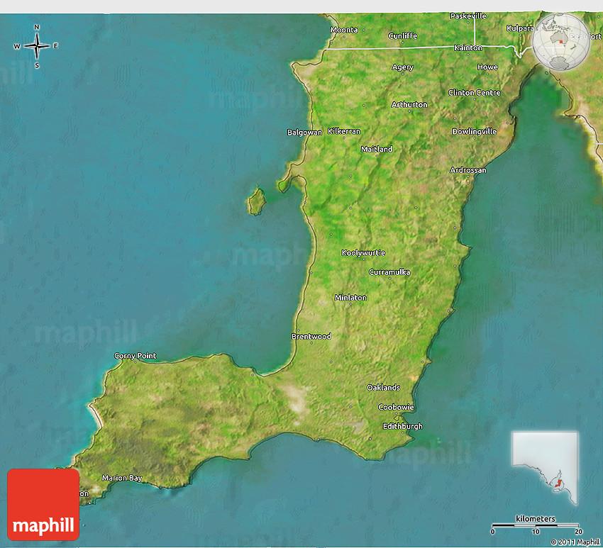 3d Map Of South Australia.Satellite 3d Map Of Yorke Peninsula