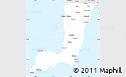 Silver Style Simple Map of Yorke Peninsula