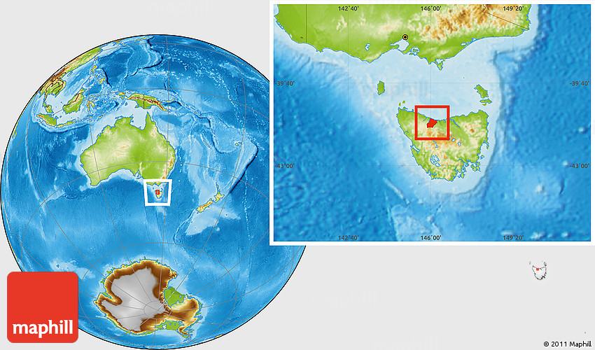 Central Coast Australia Map.Physical Location Map Of Central Coast