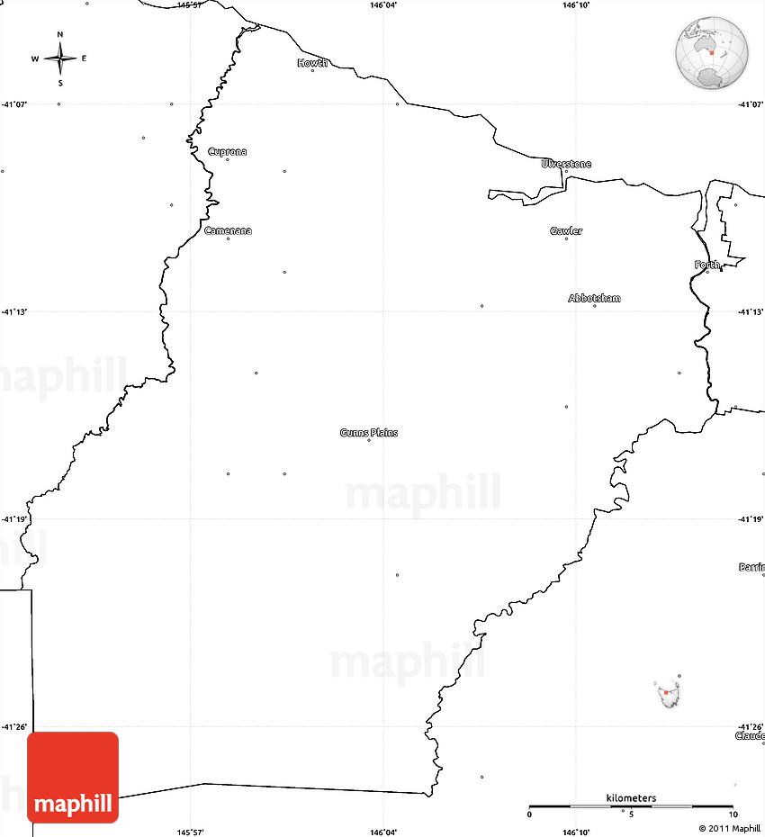 Central Coast Australia Map.Blank Simple Map Of Central Coast