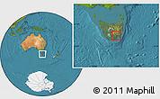 Satellite Location Map of Hobart