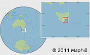 Savanna Style Location Map of Hobart