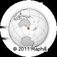 Outline Map of Hobart