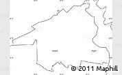 Blank Simple Map of Hobart