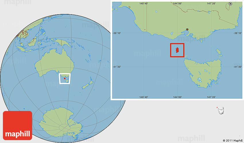 Map Of Australia King Island.Savanna Style Location Map Of King Island
