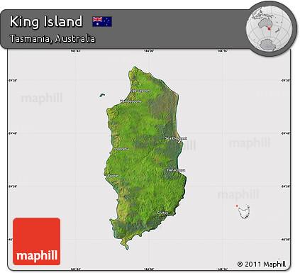 Map Of Australia King Island.Free Satellite Map Of King Island Cropped Outside