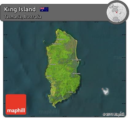Map Of Australia King Island.Free Satellite Map Of King Island Darken