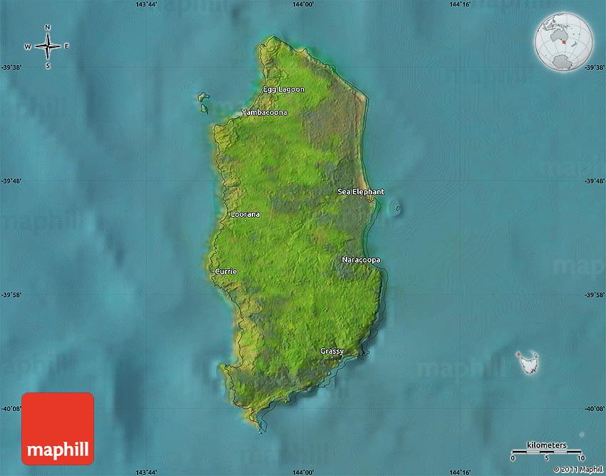 Map Of Australia King Island.Satellite Map Of King Island