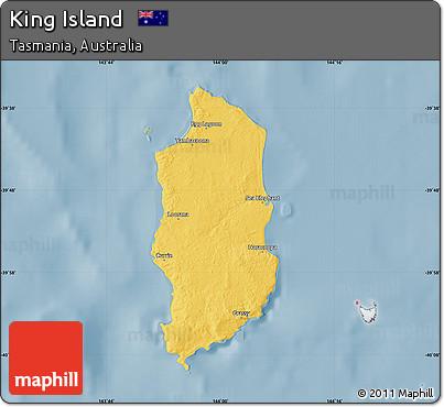 Map Of Australia King Island.Free Savanna Style Map Of King Island