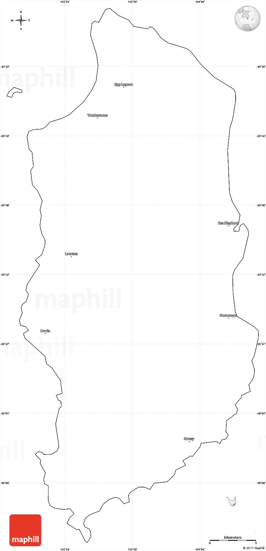 Map Of Australia King Island.Blank Simple Map Of King Island