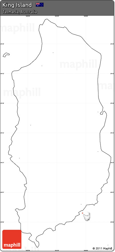 Map Of Australia King Island.Free Blank Simple Map Of King Island No Labels