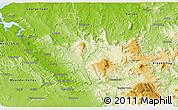 Physical 3D Map of Launceston