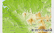 Physical Map of Launceston