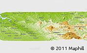 Physical Panoramic Map of Launceston