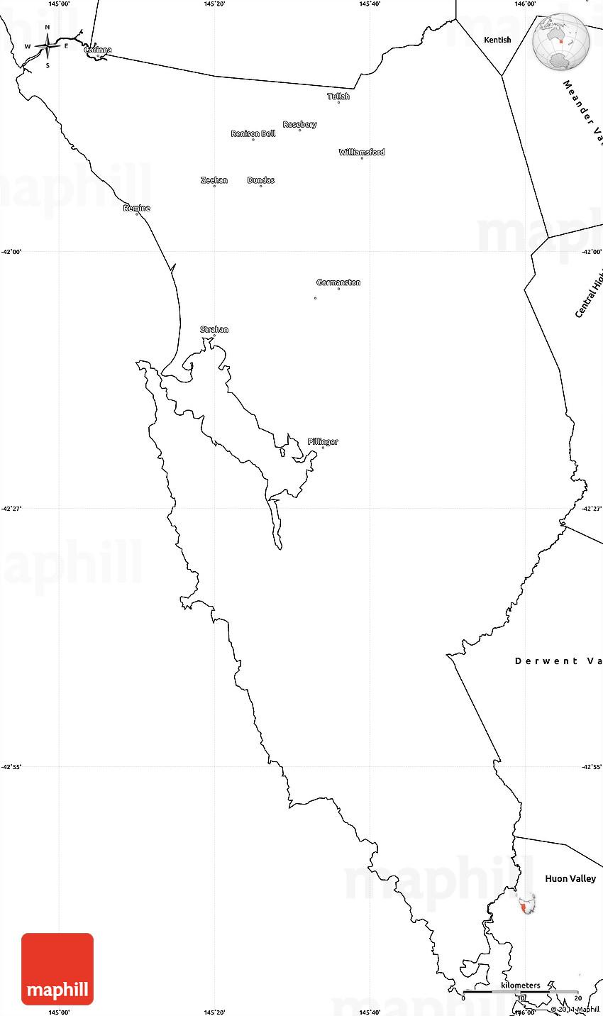 Map Of West Coast Australia.Blank Simple Map Of West Coast