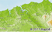 Physical 3D Map of West Tamar