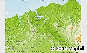 Physical Map of West Tamar