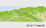 Physical Panoramic Map of West Tamar