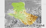 Physical Panoramic Map of Delatite, desaturated